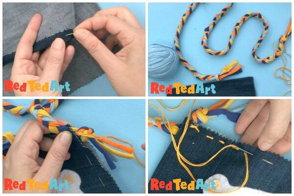 sewing your recycled denim bag