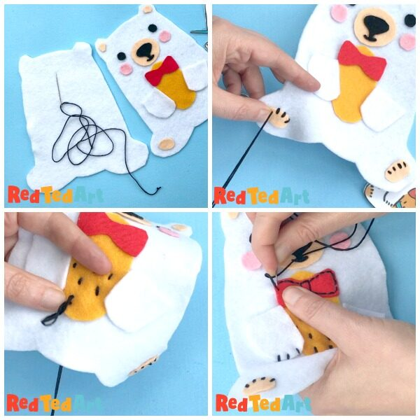 how to sew a ted softie