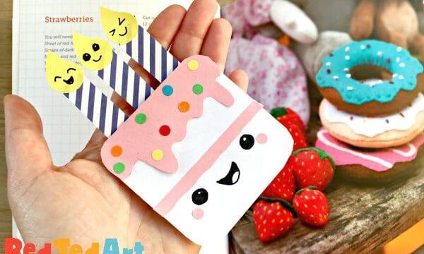 Birthday Cake Corner Bookmark Design