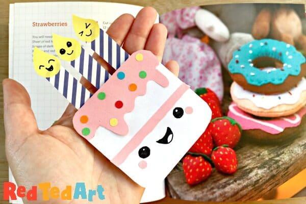 Peachy How To Make A Birthday Cake Corner Bookmark Red Ted Art Make Birthday Cards Printable Benkemecafe Filternl