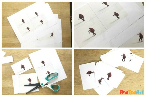 collage of creating a flip book 1