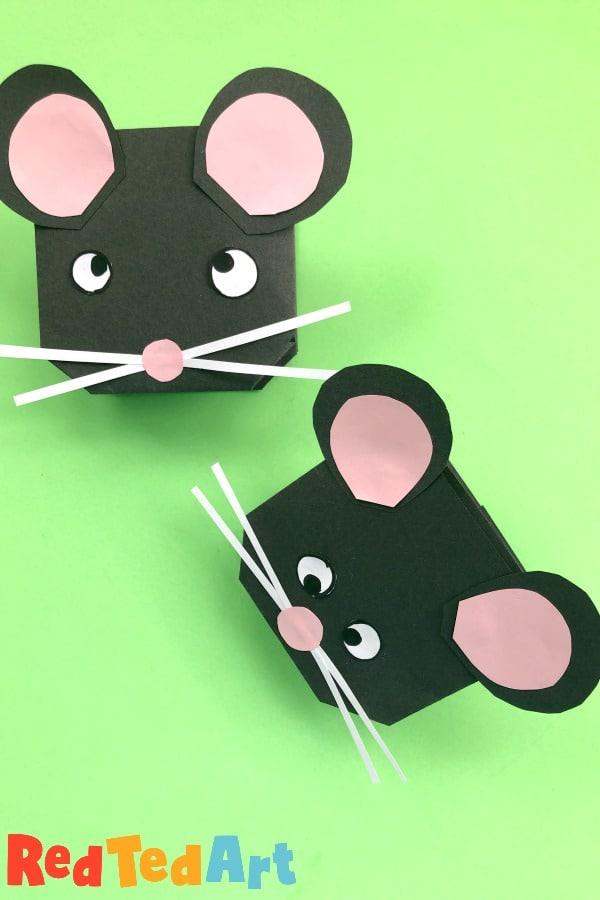 paper mice puppets for kids