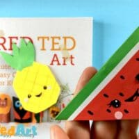 Melon Corner Bookmark Design for kids