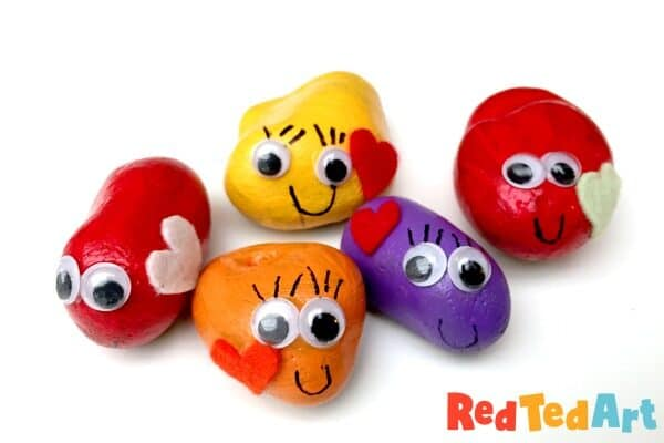 Fun with rocks! Make your own friendship Rock Pets