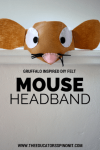 Super cute and easy MOUSE Headband for gruffalo fans