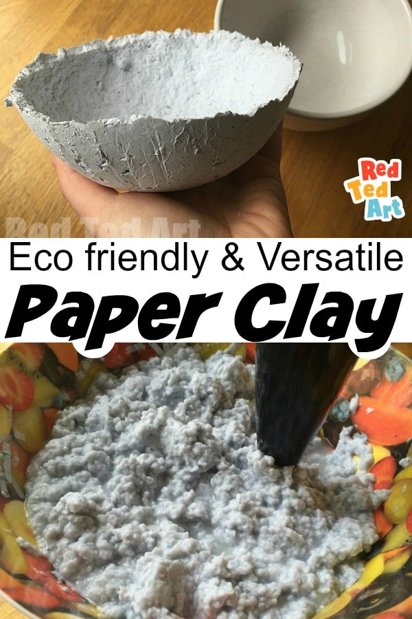 Eco friendly paper clay made from shredded paper
