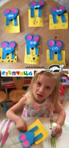 Fun Paper Mice and cheese craft for kids