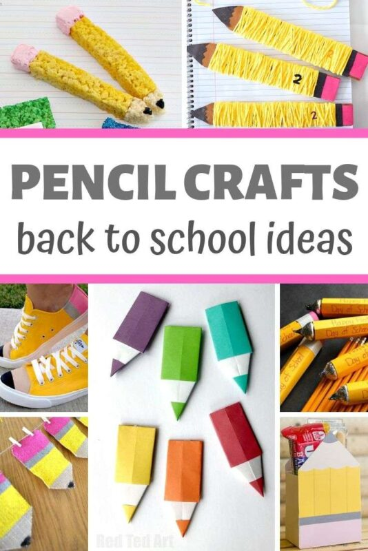 Collage of Pencil Crafts for Kids