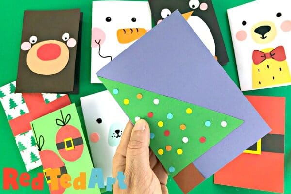 Super Simple Christmas Tree Card Design for making in the classroom