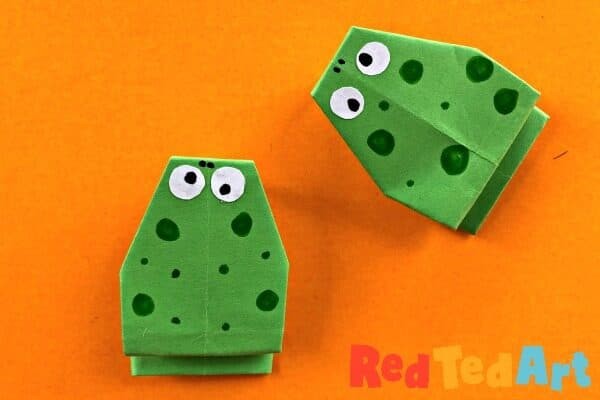 Origami Frogs that Jump