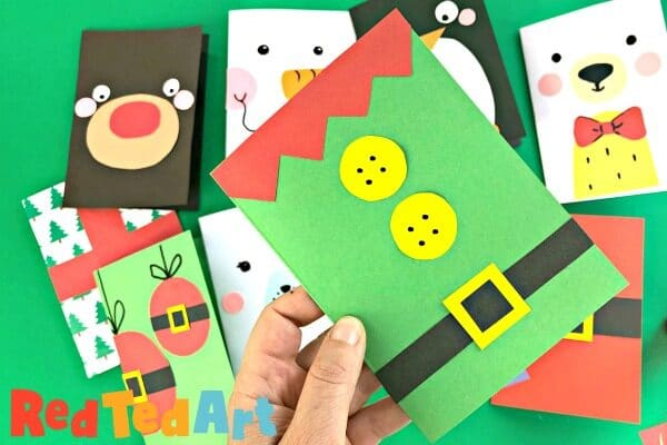 Simple Elf Christmas Card Design as part our quick and easy Christmas Card making series
