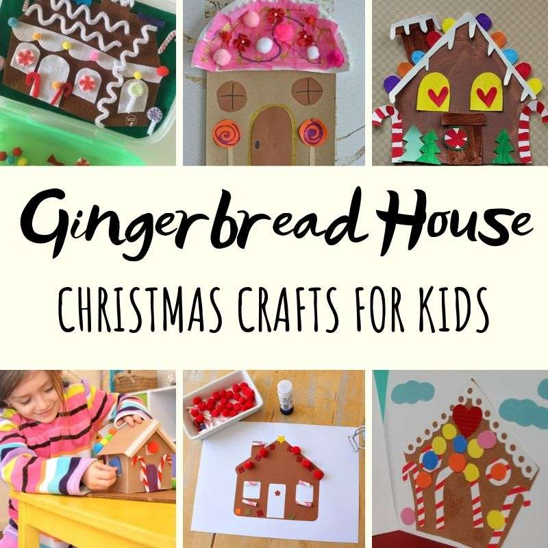 gingerbread house template kids  Easy Gingerbread House Crafts for Kids - Red Ted Art
