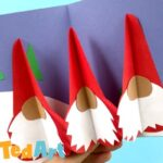 Pop Up Gnome Card DIY for 3d Christmas Fun