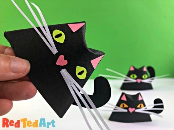 Easy Paper Cat Origami Cup For Halloween,Undermount Kitchen Sink Installation Granite Countertop