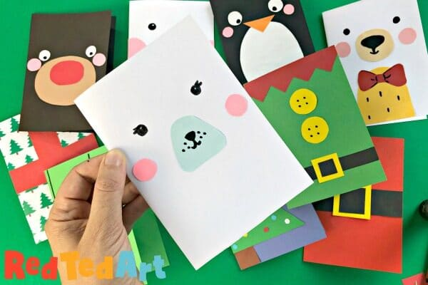 Super Simple Polar Bear Card Design Red Ted Art Make Crafting With Kids Easy Fun