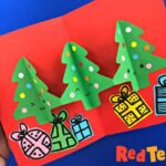 Paper Chain Pop Up Christmas Tree Card DIY