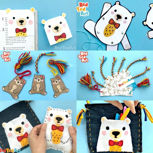 Collage of Ted Crafts for kids