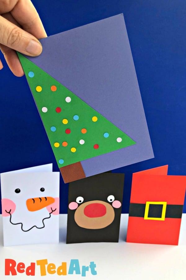 Super Simple Christmas Tree Card Design for making in bulk