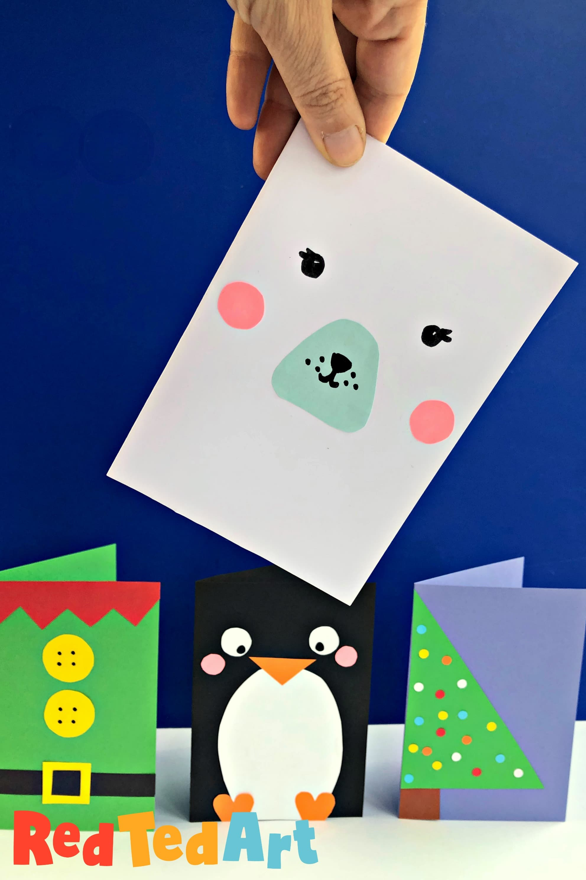 Super Simple Polar Bear Card as part of our quick and Easy Christmas Craft Series