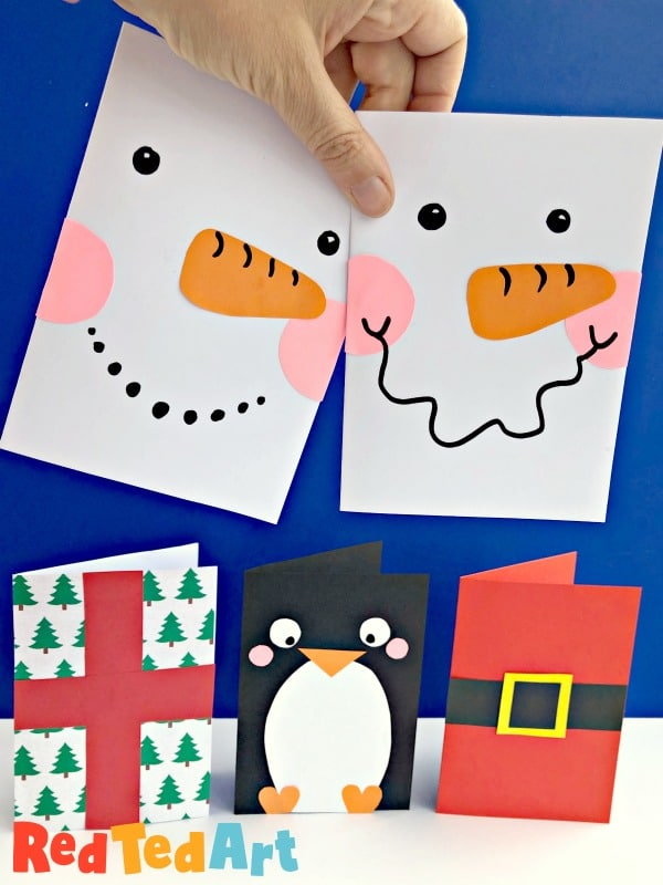 Super Simple Snowman Card Design, part of the quick and easy Christmas Card series