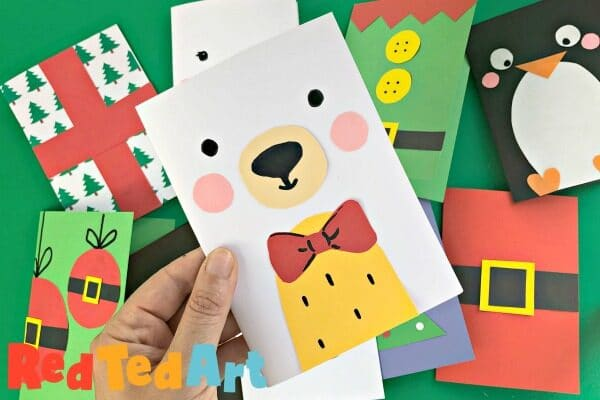 Super simple Ted Card Design for Christmas