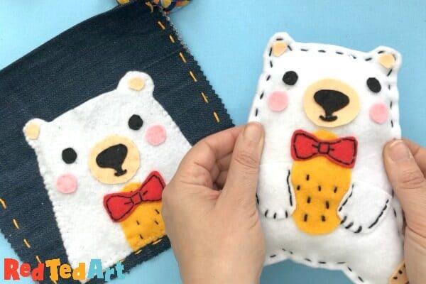Teddy Bear Softies to sew with kids