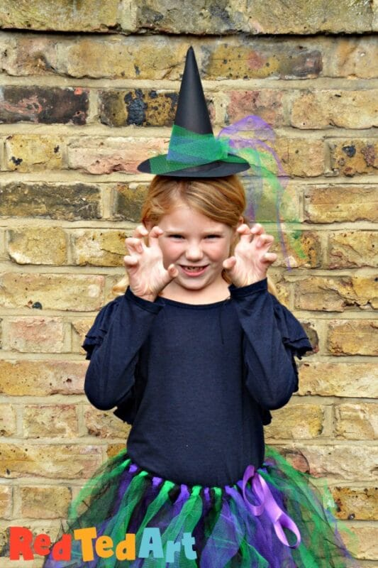 Easy paper witch's hat alice band for halloween