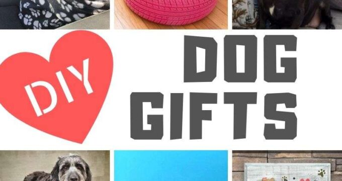 Collage of Dog Gifts to make this Christmas