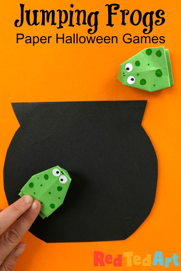 DIY Halloween Game - jumping frogs and cauldrons