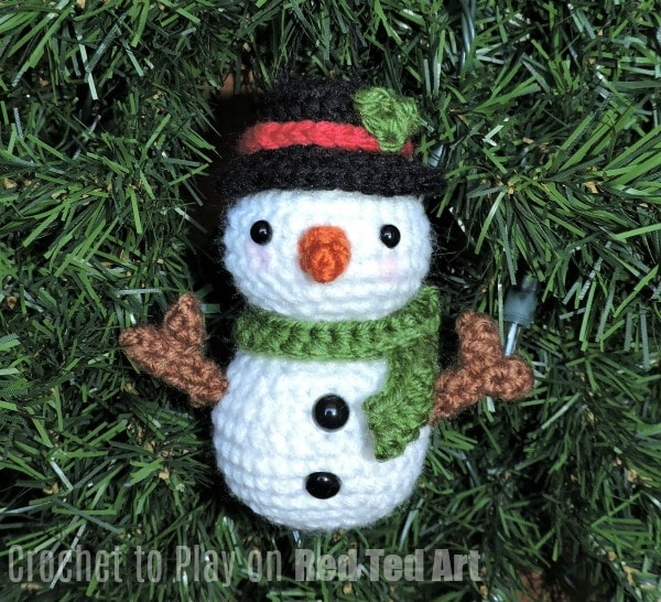 Adorable Snowman Crochet Ornament