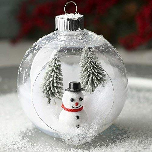 Fillable glass ornaments