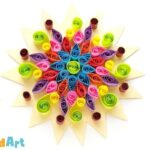 Paper Quilled Rangoli Pattern