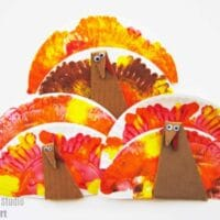 Easy Paper Plate Turkey Craft
