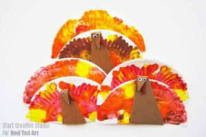 Easy Paper Plate Turkey Craft