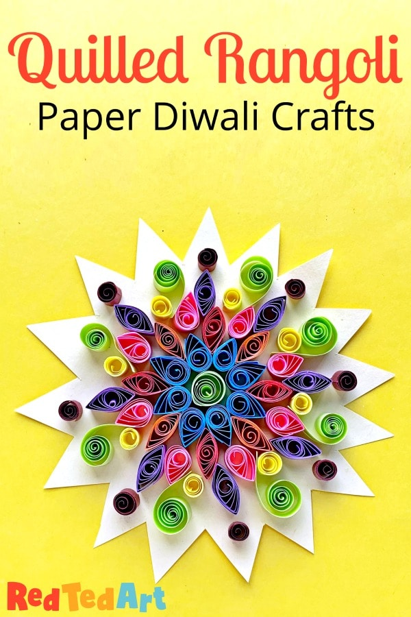 Paper Quilled Rangoli Pattern for Diwali