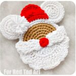 Crochet Santa Mickey Mouse Ornament
