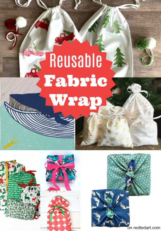Reusable eco frabric wrap ideas from etsy