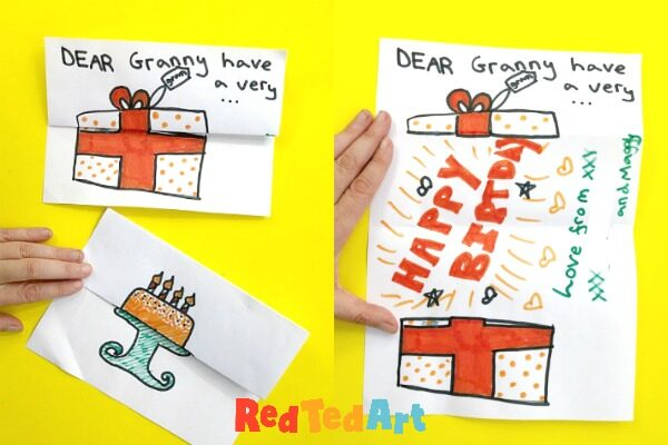 Groovy How To Make An Expandable Birthday Gift Card Red Ted Art Make Funny Birthday Cards Online Inifofree Goldxyz