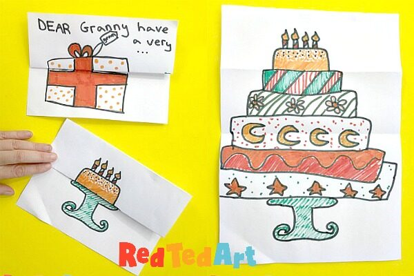 Expandable Birthday Cake Card