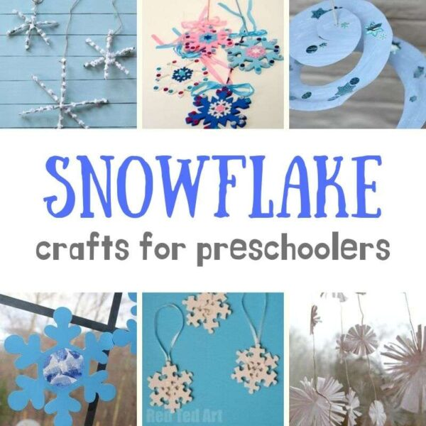 Collage or great snowflake crafts for preschoolers