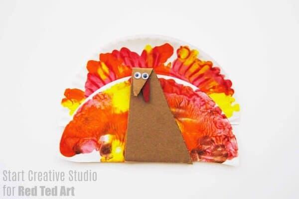 squish painting turkey craft