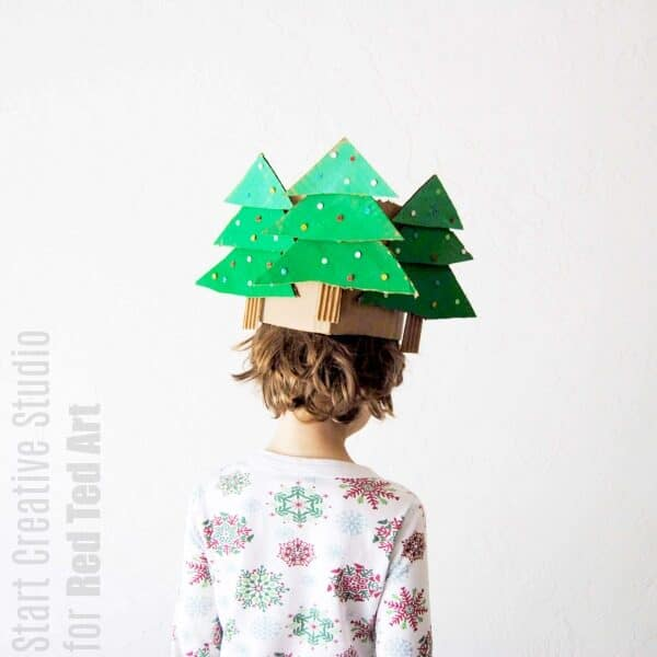 How to make a Christmas Crown with cardboard