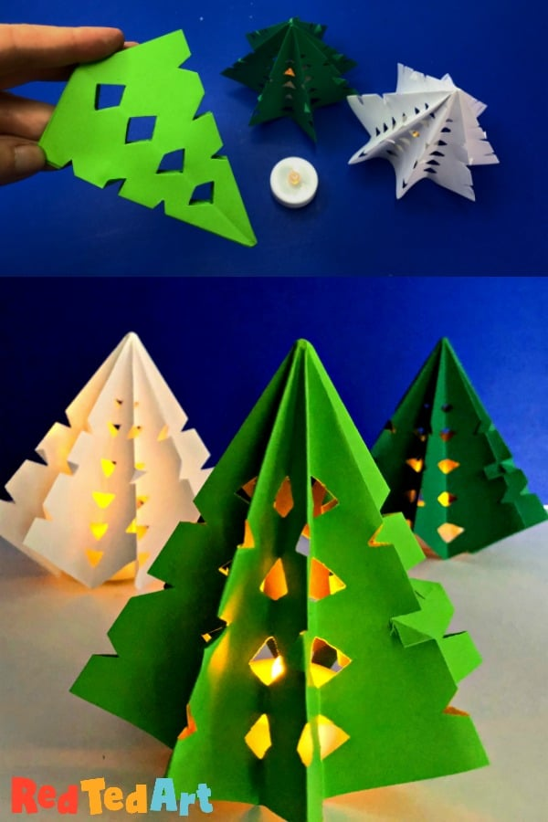 Easy Origami Christmas Tree Lights
