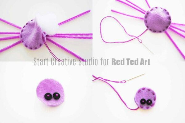 Easy Spider Pin DIY (part of a Halloween Costume accessory)