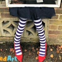 DIY Squashed Witch Legs for the Little Free Library