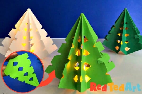 Paper Snowflake based Christmas Tree decorations that light up!