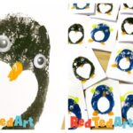 Potato Printing Penguin Cards for Preschoolers