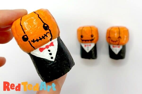 Pumpkin Cork Decorations for Halloween