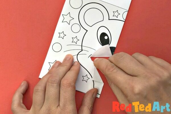 Year of the Rat Pop Up Card and Coloring Page