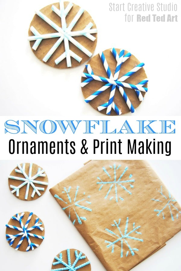 Straw Snowflake Ornament